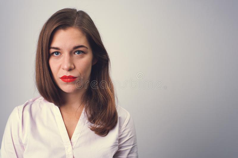 Portrait of depressed sad woman stock photography
