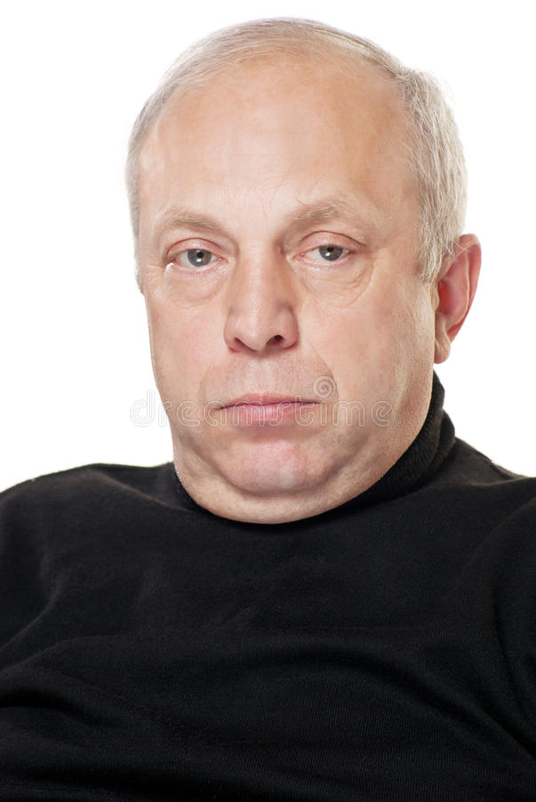 Portrait der älteren Männer. stockfotos