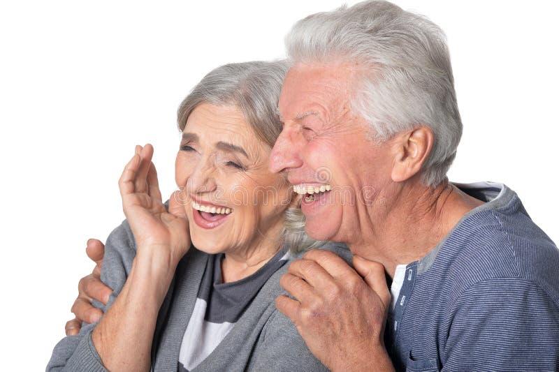 Portrait der älteren Paare lizenzfreies stockbild