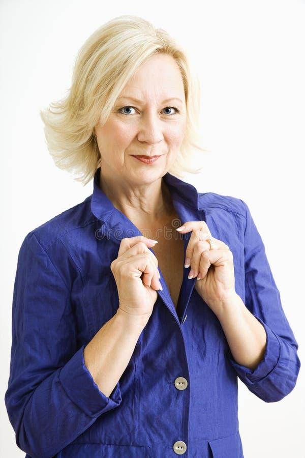 Portrait der überzeugten Frau. stockfoto