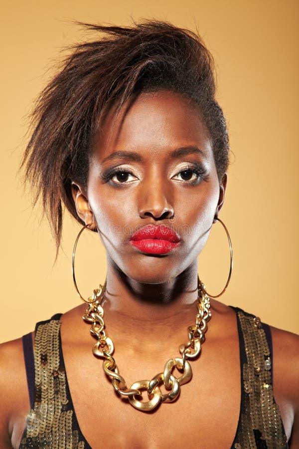 Portrait der afrikanischen Frau lizenzfreies stockbild
