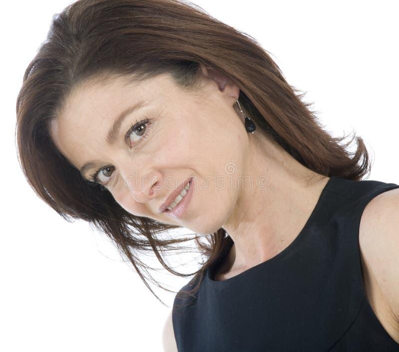 Portrait der attraktiven fälligen Frau lizenzfreies stockbild