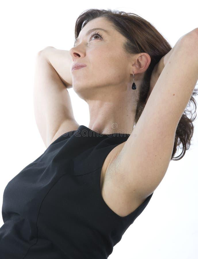 Portrait der attraktiven fälligen Frau lizenzfreies stockfoto