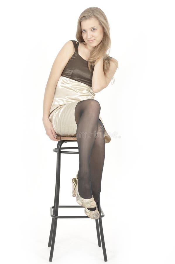 Portrait der attraktiven jungen Frau stockfotos
