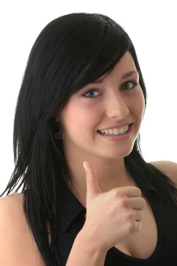 Portrait der attraktiven jungen Frau lizenzfreie stockfotos