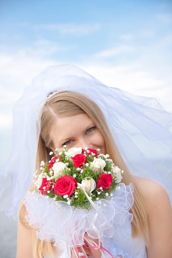 Portrait der Braut stockfotos