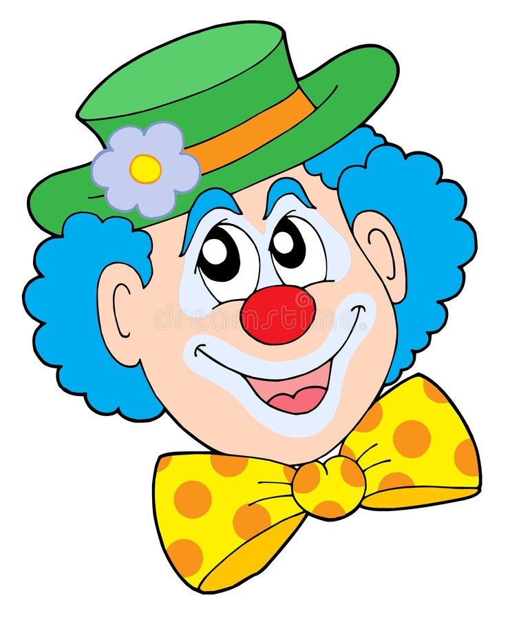 Portrait der Clownvektorabbildung vektor abbildung