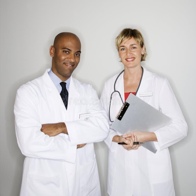 Portrait der Doktoren. lizenzfreies stockfoto