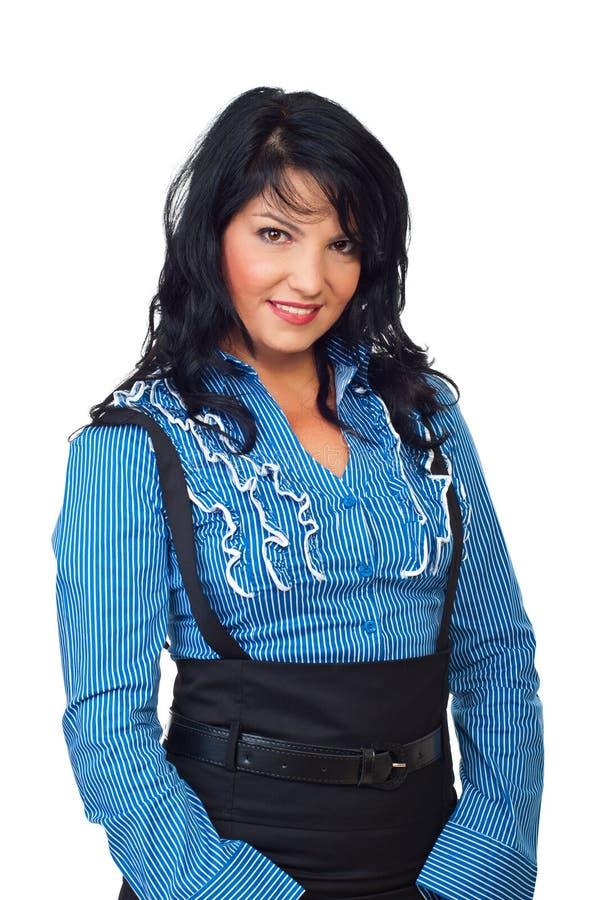 Portrait der eleganten Geschäftsfrau stockbild