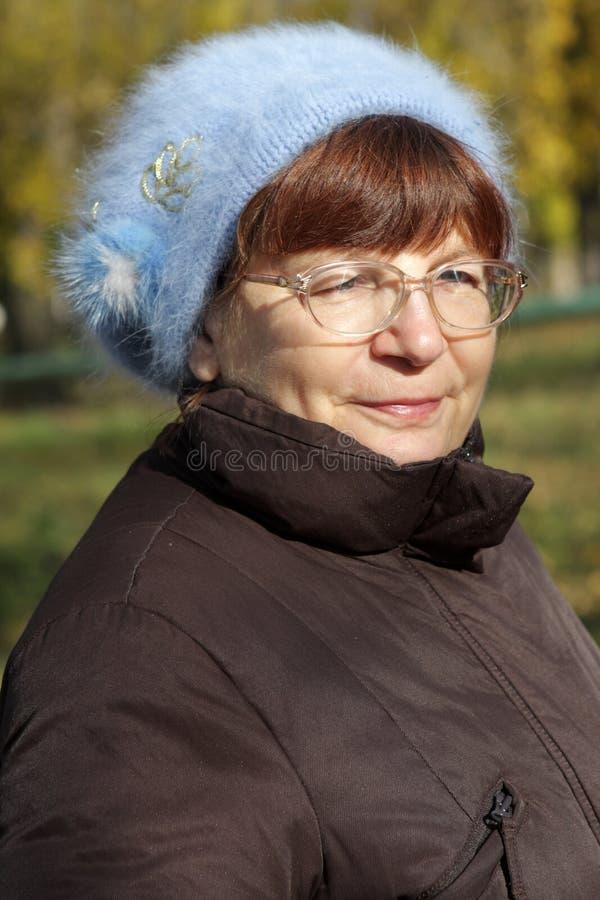 Portrait der fälligen Frau lizenzfreies stockbild