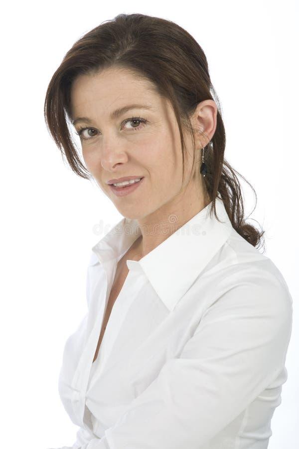 Portrait der fälligen Frau lizenzfreie stockfotos