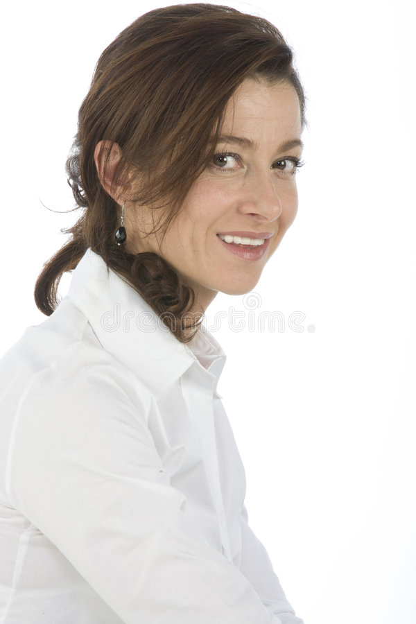 Portrait der fälligen Frau stockbilder