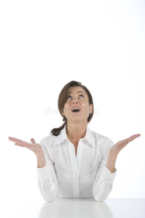 Portrait der fälligen Frau stockfoto