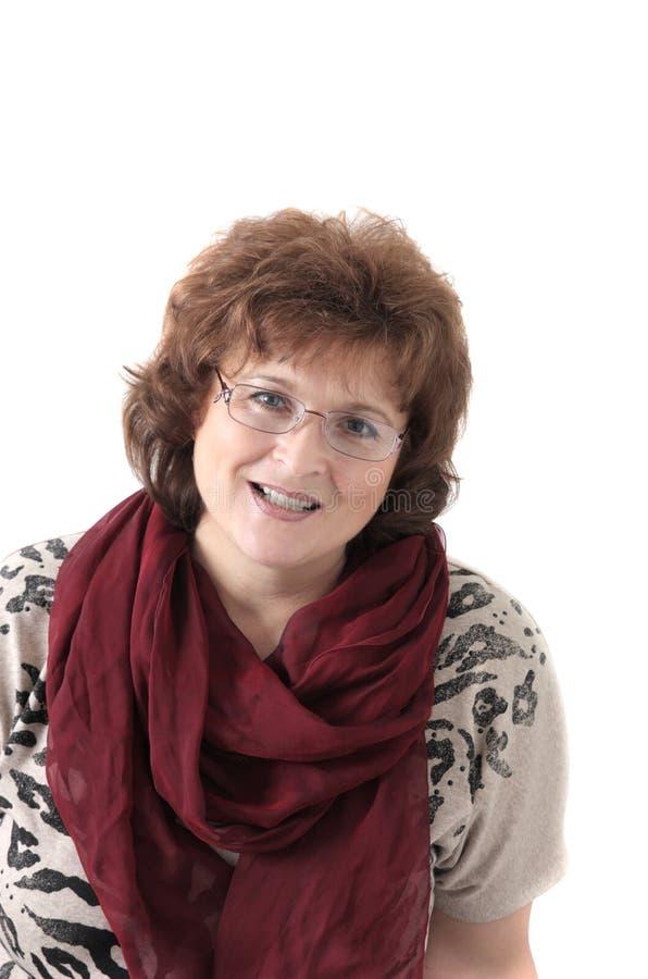 Portrait der Frau der durchschnittlichen Jahre stockfotografie