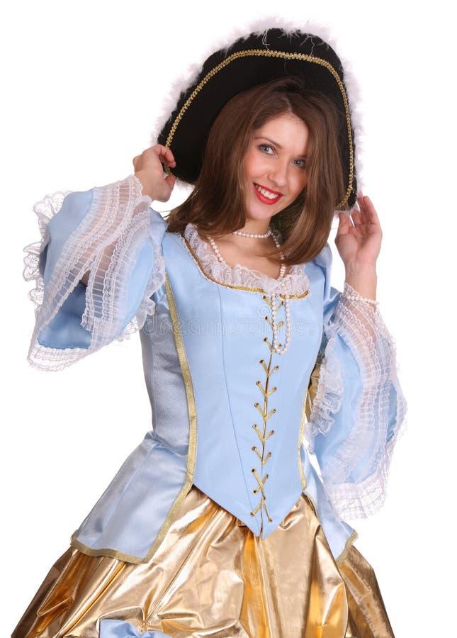 Portrait der Frau im Marquiskostüm. stockfotos