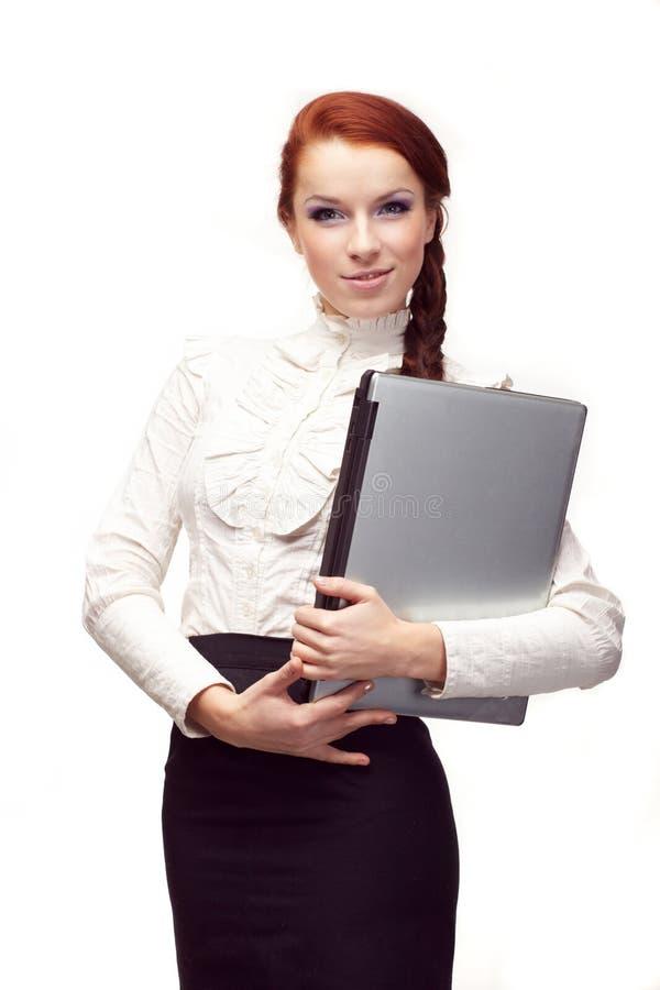 Portrait der glücklichen Geschäftsfrau stockfoto