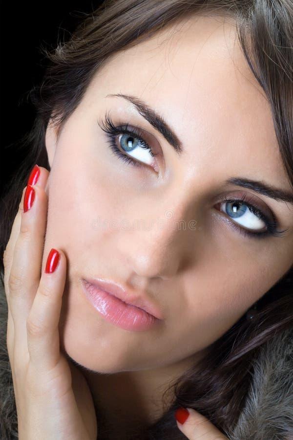 Portrait der hübschen Frau stockfotos