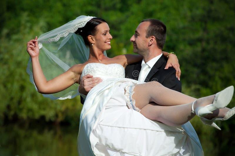 Portrait der Hochzeitspaare stockfoto