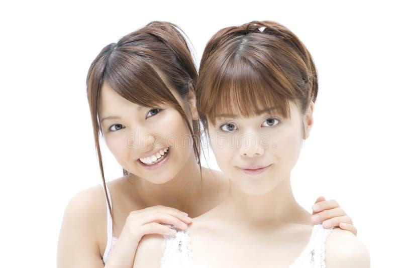 Portrait der japanischen Frauen lizenzfreie stockfotos