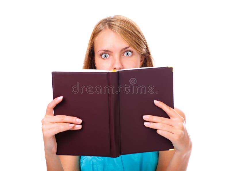 Portrait Der Jungen Frau überrascht Lizenzfreies Stockfoto