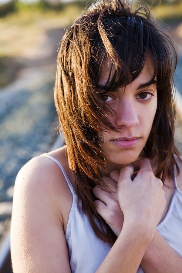 Portrait der jungen Frau lizenzfreie stockbilder