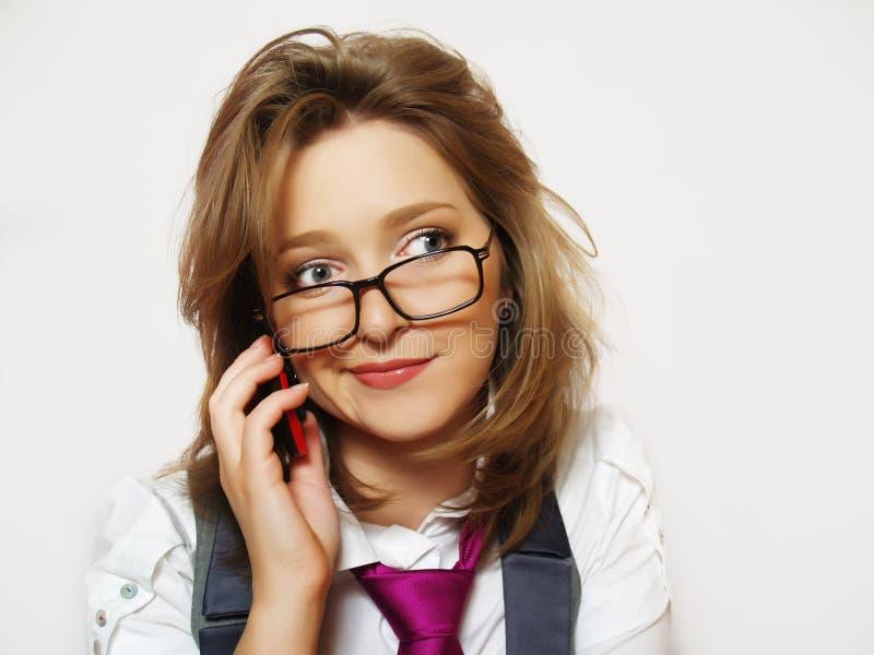 Portrait der jungen Frauen, die Gläser tragen lizenzfreie stockfotos