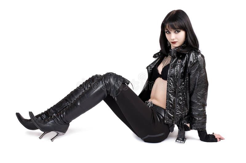 Portrait der jungen goth Frau lizenzfreies stockbild