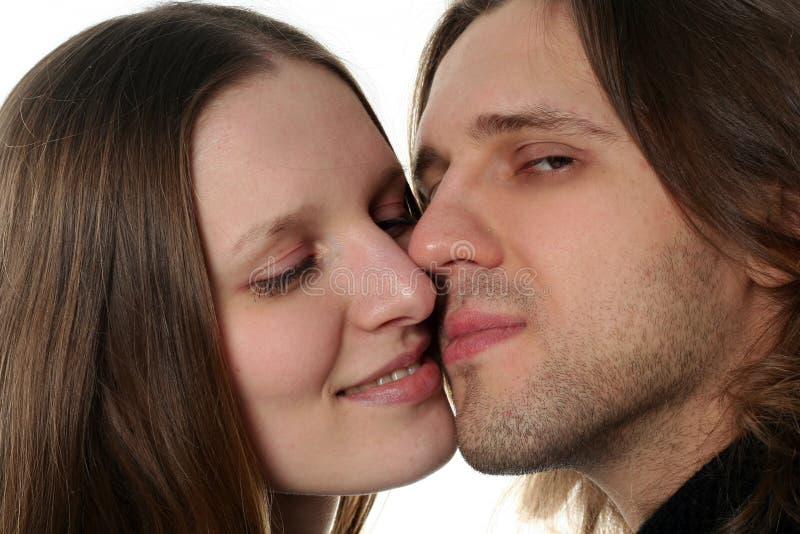 Portrait der jungen Paare stockbild