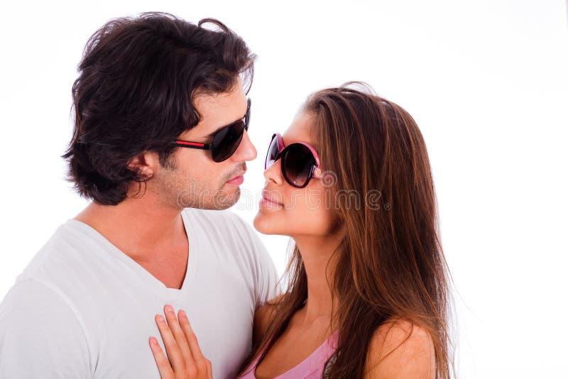 Portrait der jungen Paare lizenzfreies stockfoto