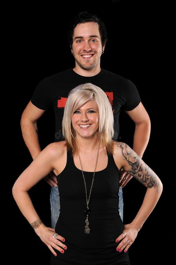 Download Portrait der jungen Paare stockfoto. Bild von vereinigt - 9089214
