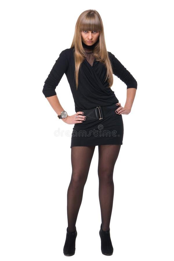 Portrait der jungen sicheren Geschäftsfrau stockbilder