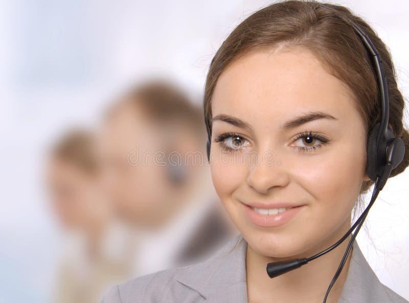 Portrait der Kundendienstrepräsentanten stockfoto