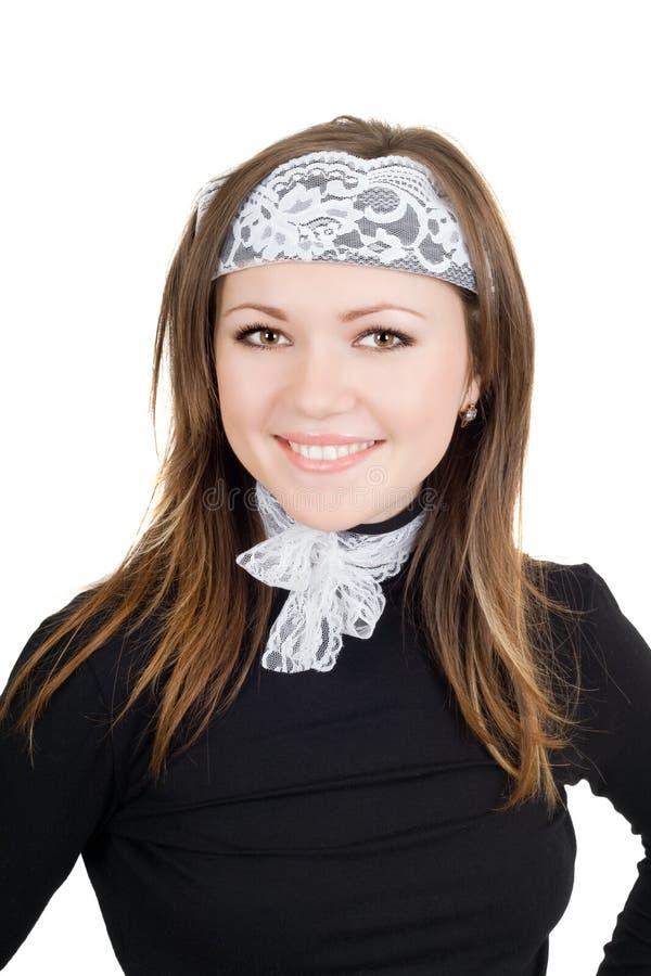 Portrait der lächelnden jungen Frau stockfotografie