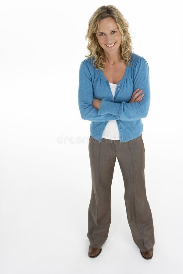 Portrait der mittleren gealterten Frau lizenzfreie stockbilder