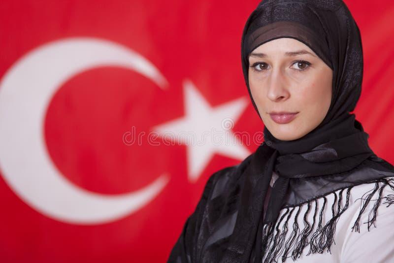Portrait der moslemischen Frau lizenzfreie stockfotografie