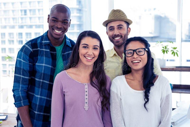 Portrait der multi ethnischen Geschäftsleute stockfotos