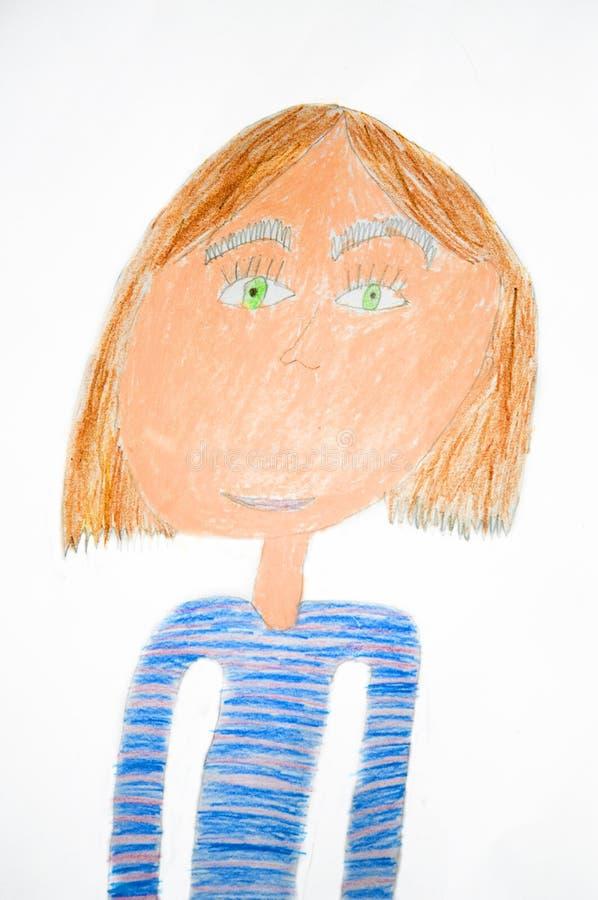 Portrait der Mutter. Kind `s Abbildung lizenzfreie abbildung