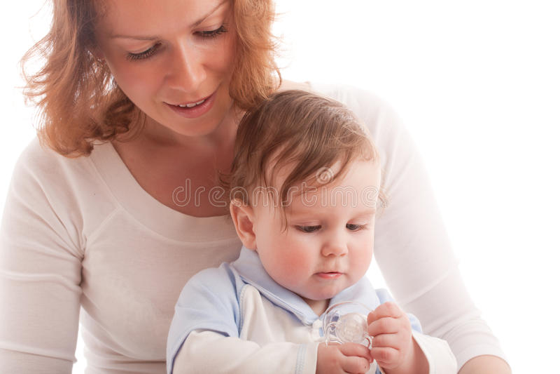 Portrait der parenting Mutter mit Baby lizenzfreies stockbild