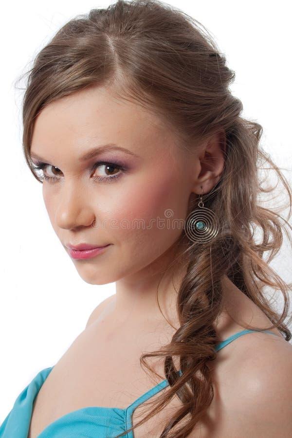 Portrait der recht jungen Frau lizenzfreie stockfotos