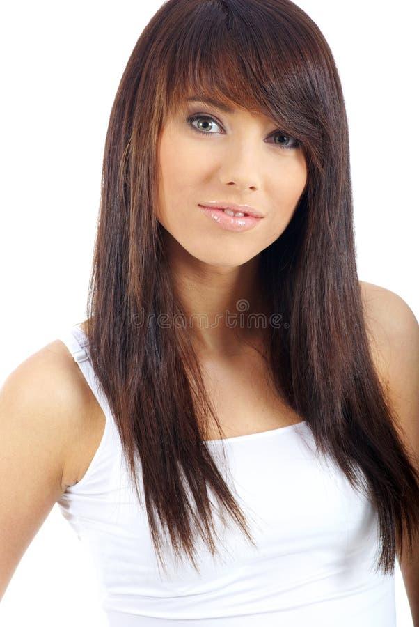 Portrait der reizvollen Frau lizenzfreies stockfoto