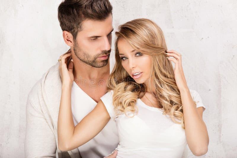 Portrait der reizvollen Paare stockbilder