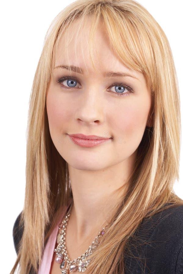 Portrait der schönen blonden Frau lizenzfreies stockbild