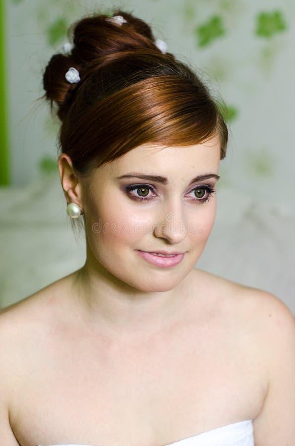 Portrait der schönen Braut lizenzfreies stockfoto
