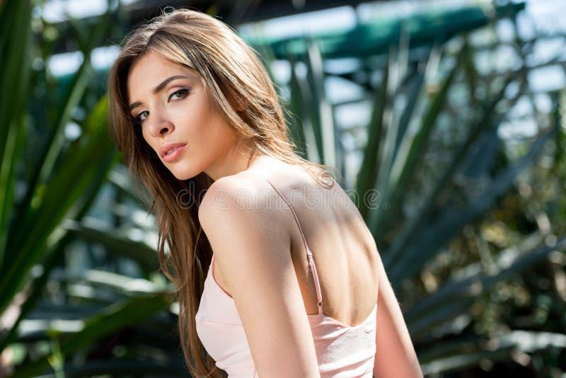 Portrait der schönen eleganten Frau lizenzfreie stockfotos