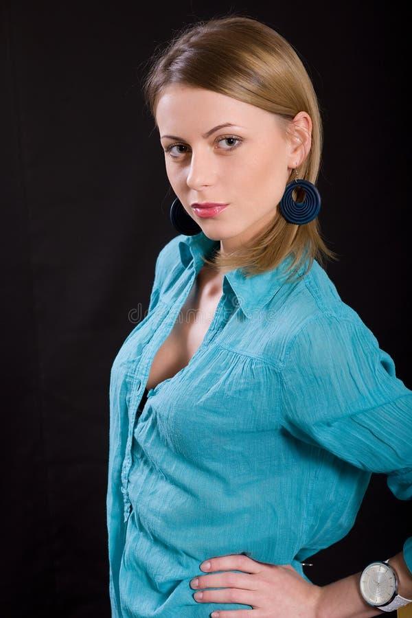 Portrait der schönen Frau stockfotos