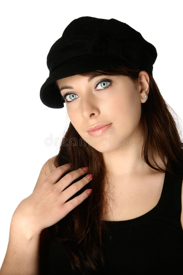 Portrait der schönen Frau lizenzfreies stockbild