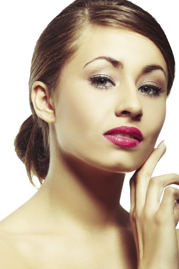 Portrait der schönen jungen Frau stockfoto