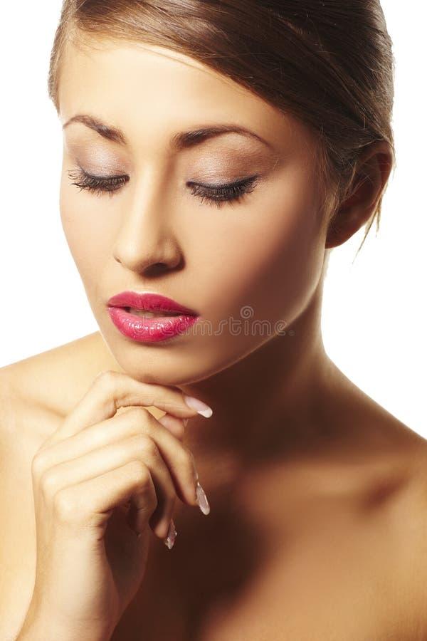 Portrait der schönen jungen Frau stockfotografie