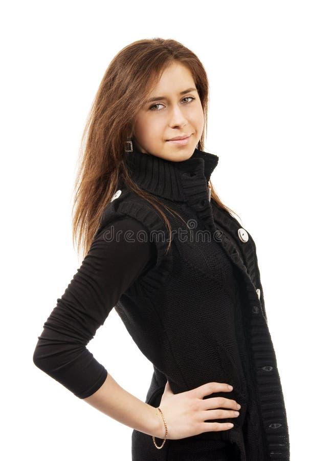 Portrait der schönen jungen glücklichen Frau lizenzfreie stockbilder