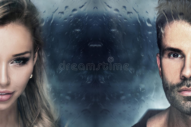 Portrait der schönen Paare stockbild